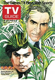 TV Guide July 1, 1978 - Ricardo Montalban and Herve Villechaize of Fantasy Island.