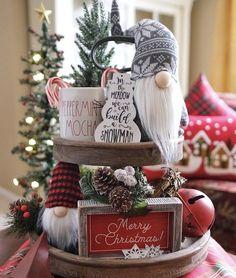Gingerbread Christmas Decor, Dollar Tree Christmas, Christmas Decorations For The Home, Christmas Mugs, Christmas Centerpieces, Christmas Figurines, Farmhouse Christmas Decor, Rustic Christmas, Xmas Decorations