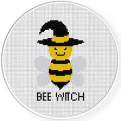 Charts Club Members Only: Bee Witch Cross Stitch Pattern