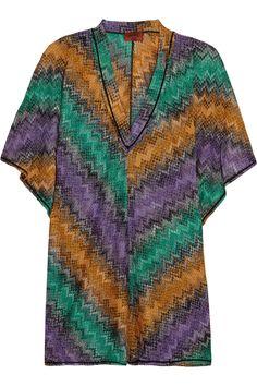 34adcc268c49f MISSONI Metallic Crochet-Knit Kaftan.  missoni  cloth  kaftan