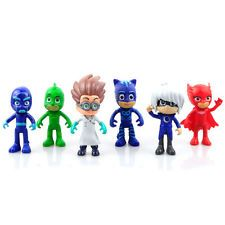 6Pcs/Set Pj Masks Toys Catboy Owlette Gekko Romeo Night Ninja Luna Girl Gift
