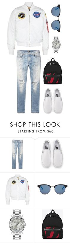 """Untitled #2013"" by fashionwwonderland ❤ liked on Polyvore featuring AMIRI, Vans, Alpha Industries, Yves Saint Laurent, Rolex, men's fashion and menswear"