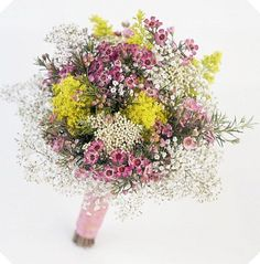 Wild flower bouquet made from flowers normally used as fillers <3