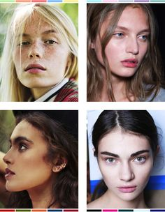 Colour Analysis Part I: Finding your Type — Anuschka Rees typ Pallette, Winter Typ, Light Blonde Hair, Seasonal Color Analysis, Fashion Over, Fashion Tips, Color Profile, Color Me Beautiful, Collor