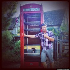 Jamie Oliver decided to convert this classic red telephone box into a hot and cold smoker. He stole my idea! A fish tank would also be pretty cool?