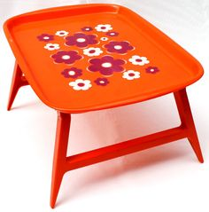 This funky little retro tray table is just what you need next time youre feeling a little under the weather, or just having a luxurious
