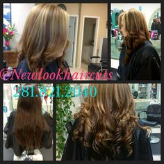 Beautiful transition from blonde to dark brunette.  #highlights #haircolor #beforeandafter