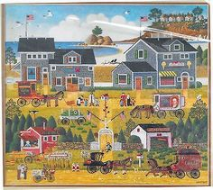 Charles Wysocki Dimensions Embroidery Crewel Kit 1353 On The Bay 18 x 16 inch