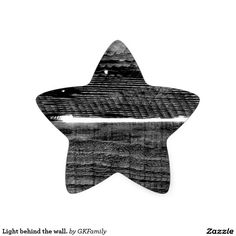 Light behind the wall. star sticker