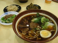My Taiwanese Food Court Meal:  牛肉麵 (Beef Noodles)