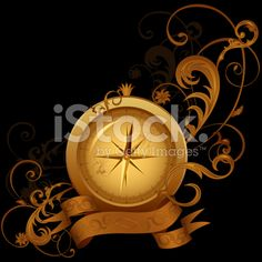 Gold compass, classical banner with flower pattern on black background royalty-free stock vector art Free Vector Art, Image Now, Compass, Flower Patterns, Black Backgrounds, Royalty, Banner, Illustration, Flowers