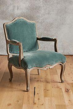 Velvet Viola Occasional Chair