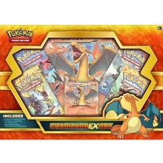 Charizard EX Collection Box Pokemon TCG Cards Flashfire Sealed Packs Promo Pokemon Sammelkarten, Pokemon Store, Rare Pokemon Cards, Pokemon Trading Card, Trading Cards, Pokemon Charizard, Fanart, Kings Game, Jouer