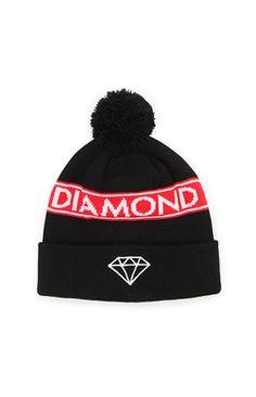 Diamond Supply Co Simple Pom Beanie at PacSun.com