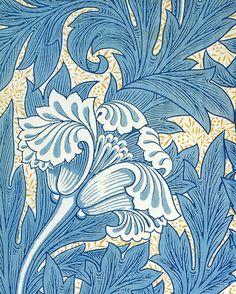 William Morris, printed and wooden design.