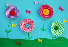Lavoretti per la primavera for toddlers easy year old Easy Art For Kids, Fall Crafts For Kids, Toddler Crafts, Projects For Kids, Kids Crafts, Diy And Crafts, Arts And Crafts, Paper Crafts, Grandma Crafts