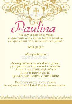 invitaciones de primera comunion y bautizo