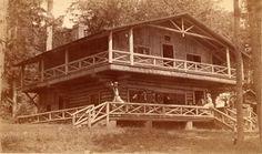 Adirondack Great Camp, Camp Pine Knot, ca 1885, photograph, Adirondack Museum