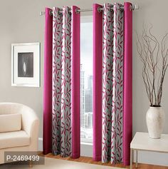Multicolored Polyester Curtain 7 feet-Set of 2 from Stf Store Curtains Living, Door Curtains, Curtain Sets, Best Budget, Luxurious Bedrooms, This Is Us, Windows, Luxury, Color