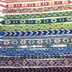 Hand made bead loom ankle bracelets