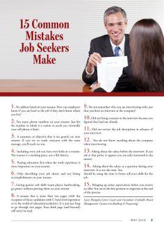 15 Common mistakes Job Seekers make