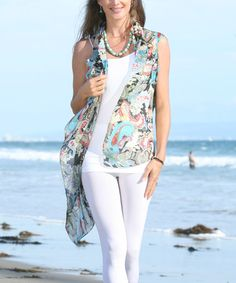 Loving this Blue Paisley Sheer Open Cardigan - Women on #zulily! #zulilyfinds