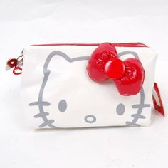"Hello Kitty Hand Cosmetic Bag Makeup Case Pouch Pencil Case White by Hello Kitty. $16.20. Inner pocket (Height x Width): 4"" x 4-3/4"" (10 x 12 cm). Color: White. Bag (Height x Width x Depth): 4-3/8"" x 6-3/4"" x 3-3/4"" (11 x 17 x 9.5 cm). ·Big Hello Kitty face with red bowknot on the white body of the bag  ·Stylish bag with bowknot-shaped zipper closure  ·An extra inner pocket with zipper closure  ·Multiple usages: cosmetic bag, organizer and DC holder etc.  ·Great gift for..."