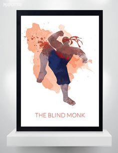 Hey, I found this really awesome Etsy listing at https://www.etsy.com/listing/223434946/lee-sin-poster-watercolor-print-league