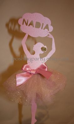 Personalised Ballerina Dancer party decoration by PoshMyParty, $20.00