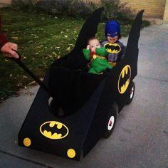 Wagon turned Batmobile