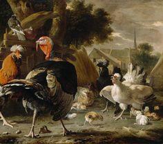 Poultry Yard - Melchior de Hondecoeter
