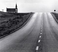 David Plowden - Approaching the 98th Meridian, North Dakota, 1968 From Beinecke Rare Book and Manuscript Library