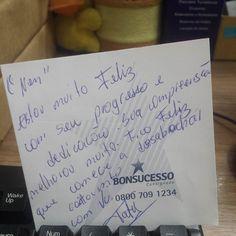 Sobre os mimos no trabalho.  Muito amor envolvido.  #Job #Sds #Isocred #MuitoAmor #QueDiaElaVolta