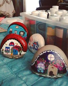 #köyümoluşmayabaşladı#rockpainting #stoneart #stone #paintedrocks #paintings…