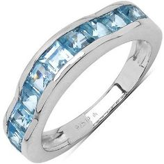 2.25 Carat Genuine Blue Topaz .925 Sterling Silver Ring available at joyfulcrown.com