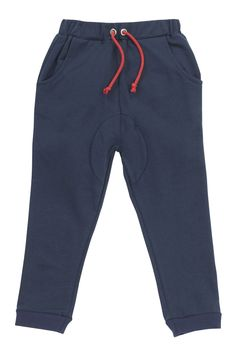 """Super comfy relaxed pants are tricked up with mock drawstring and fun red back pockets. Your boys are sure to love the relaxed fit around the waist!Also available in Grey Marle.100% French Terry / Machine Washable Being a Hootkid is about loving all things fun and fashionable, our clothing is designed to bring """"fun"""" into little people's lives! $7.95 local shipping, free shipping on all Aust wide orders over $150!"""