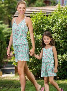 Yeni İnci Anne Kız Turkuaz Tulum Kombini | Pijama.com.tr Anne, Tulum, Lily Pulitzer, Summer Dresses, How To Wear, Sleep, Fashion, Babydoll Sheep, Travel