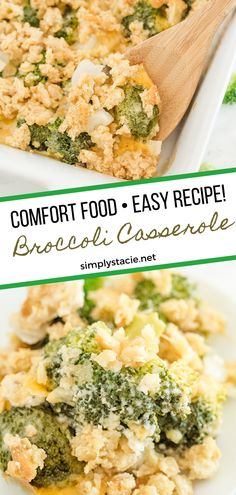 Broccoli Casserole - Tender broccoli and creamy mushroom sauce, topped with cheese and a crispy cracker topping - this side dish is a classic for a reason! This is easy comfort food, that everyone in the family is sure to love.