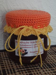 Paper, Wool & Yarn: Crochet Jar Lid Cover