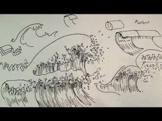 ▶ Pen & Ink Drawing Tutorials | How to draw ocean waves - YouTube