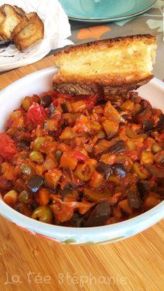 La Fée Stéphanie: Caponata d'aubergines, une recette aux saveurs du bassin méditerranéen