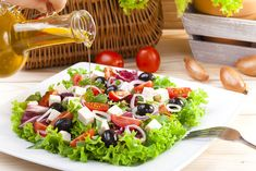 Add olive oil to your salad to help you build muscle Greek Salad, Good Fats, Build Muscle, Cobb Salad, Great Recipes, Salads, Fresh, Food, Olive Oil