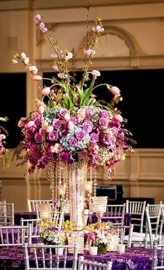 Photographer: Oscar Rajo; Wedding reception centerpiece idea;