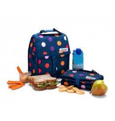 Avec ce sac déjeuner réfrigérant à pois, emportez tous vos repas et boissons fraîches partout avec vous. 29,90€
