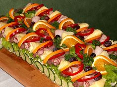 Sandwich cake - perfect for potluck