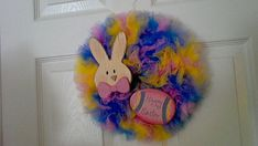 Happy Easter Wreath by ScrappyHours on Etsy