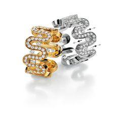 Bretterbauer Juweliere - bewegliche Diamanten - Pompeji Ring Cufflinks, Gold, Diamonds, Wedding Rings, Engagement Rings, Creative, Accessories, Jewelry, Metal