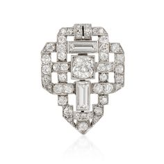 Diamond Art Deco Brooch available at Windsor Jewelers, Inc. in New York City