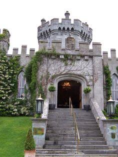 Entering Dromoland Castle, Ireland