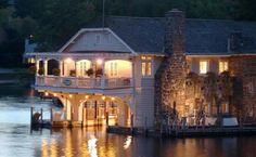 Boathouse B on Lake George in Upstate NY.